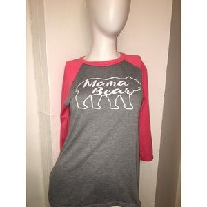 Mama Bear Baseball Tee T Shirt
